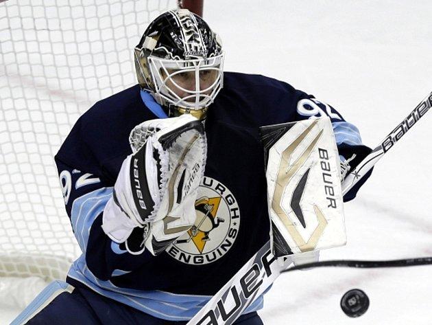Brankář Pittsburgh Penguins Tomáš Vokoun.