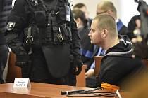 Obviněný Miroslav Marček v jednací síni specializovaného trestního soudu v Pezinku
