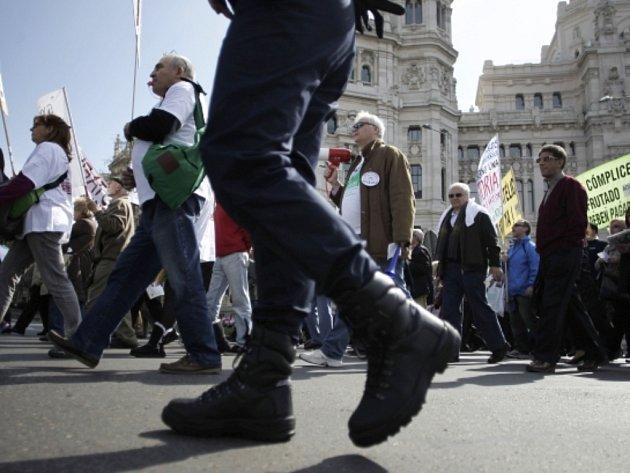 Protesty ve Španělsku.