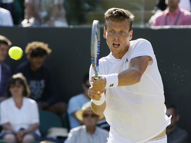 Tomáš Berdych na Wimbledonu.