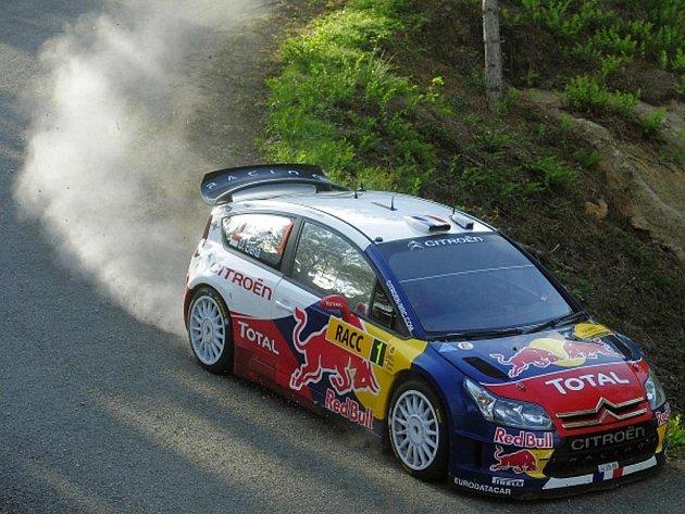 Sébastien Loeb na Katalánské rallye.