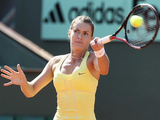Iveta Benešová na Roland Garros.