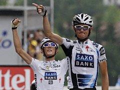 Radost bratří Schlecků byla oprávněná. Fränk (vpravo) vyhrál 17. etapu, Andy skončil třetí.