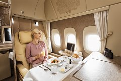 Emirates nabízí ve své první prémiové třídě absolutní soukromí.