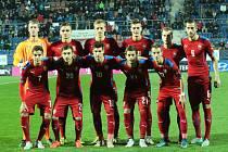 Základní jedenáctka fotbalové jednadvacítky proti Černé Hoře.