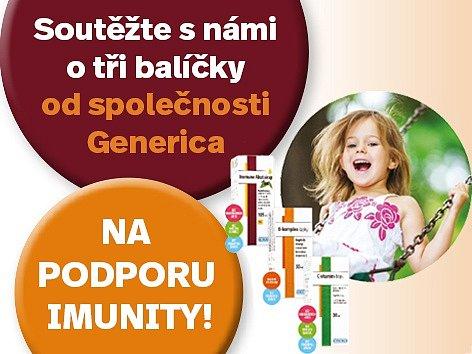 Zapojte se s námi do soutěže o tři Balíčky od společnosti Generica na podporu imunity!