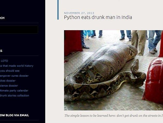 K neštěstí došlo v indické oblasti Attapadi. Opilého muže, kterého přepadl spánek na ulici u obchodu s lihovinami, snědla krajta.