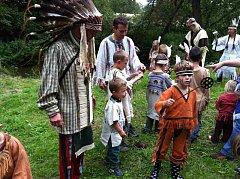 Dětský indiánský tábor pořádaný rodiči ve spolupráci se skautským oddílem Stopaři. Měsíční údolí, Vlašim