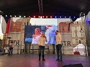 Staroměstské náměstí čeká na české olympioniky. Kateřina Neumannová