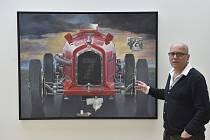 Pocta rychlosti. Kurátor Martin Dostál představuje obraz Theodora Pištěka Adieu, Guy Moll. Právě tento obraz se na letošní podzimní aukci Galerie Kodl prodal za 21,2 milionu korun.