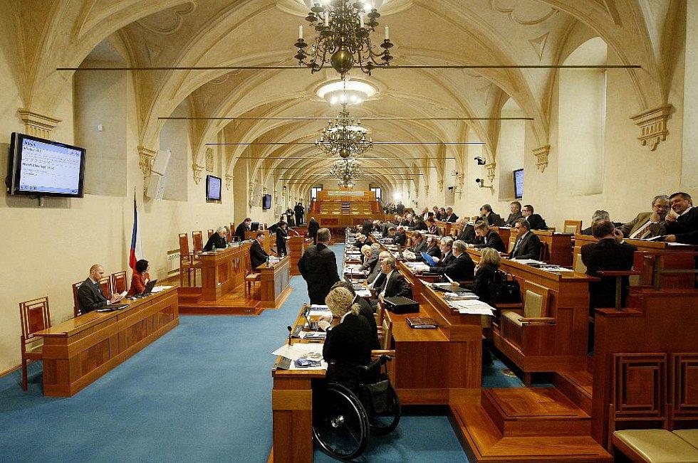 Jednání Senátu ČR 8. února v Praze.
