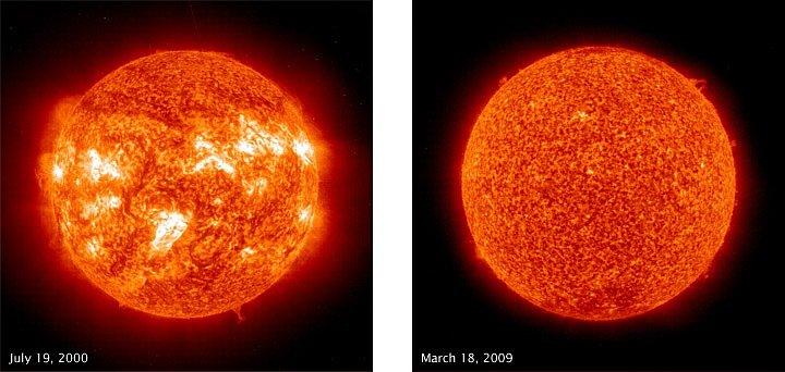 Tytéž skvrny zobrazené v ultrafialovém záření