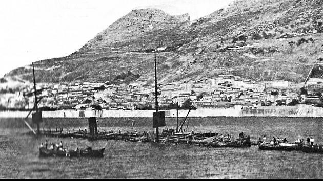 Vrak Utopie na dně gibraltarského přístavu