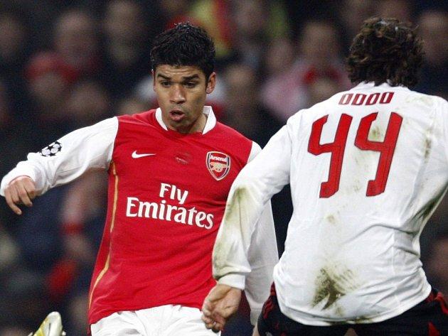 Eduardo da Silva si proti AC Milán zahrál poslední zápas v letošní sezoně Ligy mistrů.