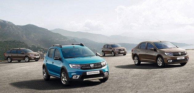 Dacia Logan MCV, Dacia Sandero Stepway, Dacia Sandero a Dacia Logan.