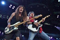 Britská heavymetalová legenda Iron Maiden vystoupila 5. července v Praze.