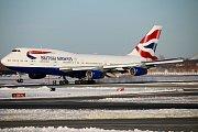 Boeing 747-400 British Airways na letišti JFK v New Yorku.