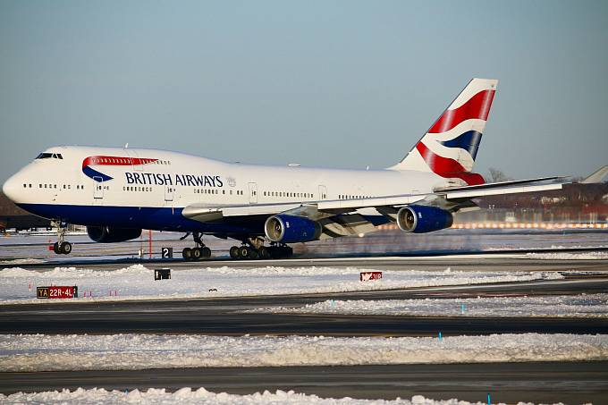 Boeing 747-400 British Airways na letišti JFK v New Yorku.