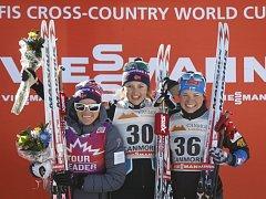Norské lyžařky kralují Tour v Kanadě. Vede Heidi Wengová (vlevo)