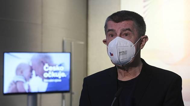 Premiér Andrej Babiš vystoupil 27. prosince 2020 v Ústřední vojenské nemocnici v Praze