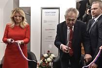 Prezident ČR Miloš Zeman otevřel 16. listopadu 2019 společně se slovenskou prezidentkou Zuzanou Čaputovou Český dům v Bratislavě