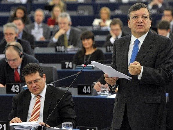 José Barroso při projevu v Evropském parlamentu