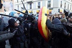Demonstrace v italském Milánu