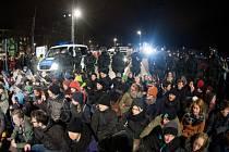 Protiislámská demonstrace v Drážďanech. Ilustrační foto.