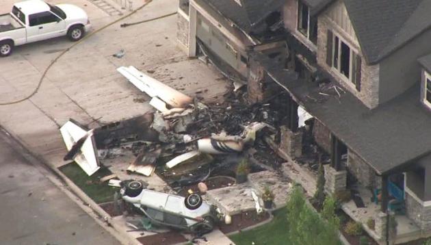 Američan kvůli sporu s manželkou zaútočil letadlem na vlastní dům