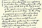 Jennerův ručně psaný záznam prvního očkování uchovává Královská chirurgická kolej v Londýně