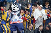 Maskot hokejového mistrovství světa 2016 v Rusku - pes Lajka