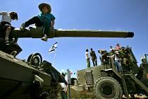 Izraelská vojenská technika ve vesnici Teqoa