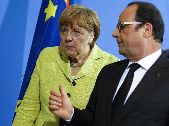 Angela Merkelová a François Holland.