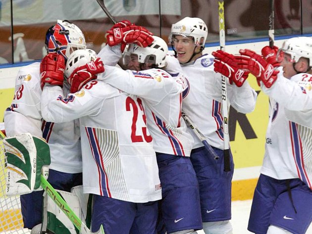 Radost hokejistů Norska.
