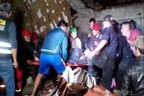 Zřícení hotelu v peruánském městě Abancay