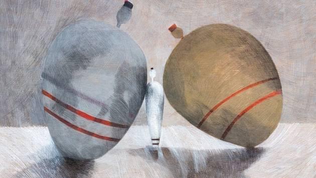 Pocta zeměměřiči K. v Topičově klubu – obrazy Rut Kohnové inspirované Kafkou