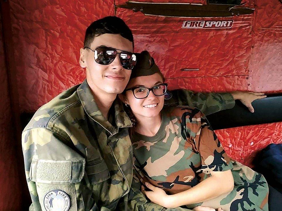 S přítelem ve volném čase rádi vyrážíme na výlety. V létě jsme spolu navštívili vojensko-historickou akci na Pánově.