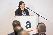 Sklad amerického internetového obchodu Amazon v Dobrovízi u Prahy zahájil 8. září plný provoz. Jana Krupičková, starostka Dobrovíze.