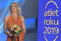 Nikola Ogrodníková na vyhlášení ankety Atlet roku 2019
