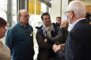 Na setkání prezidentského kandidáta Jiřího Drahoše s občany v brněnském Semilassse nechyběl ani Martin Dejdar a Pavel Nový.