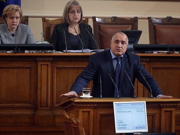 Odstupující bulharský premiér Bojko Borisov