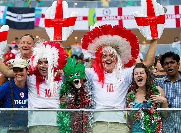 Fotbalisté Anglie a Itálie na MS.