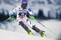 Šárka Strachová ve slalomu SP v Aare.