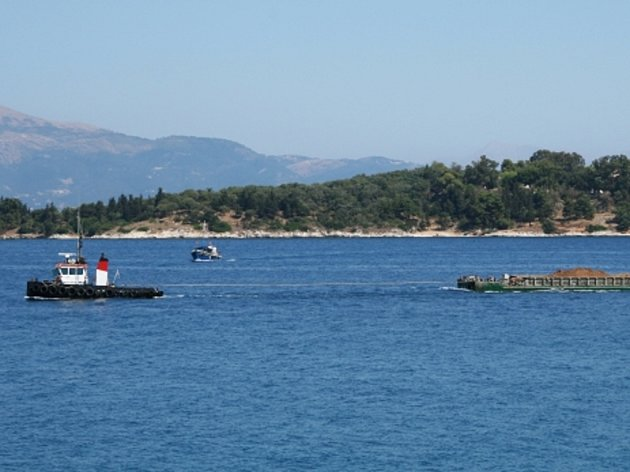 Řecký ostrov Korfu.