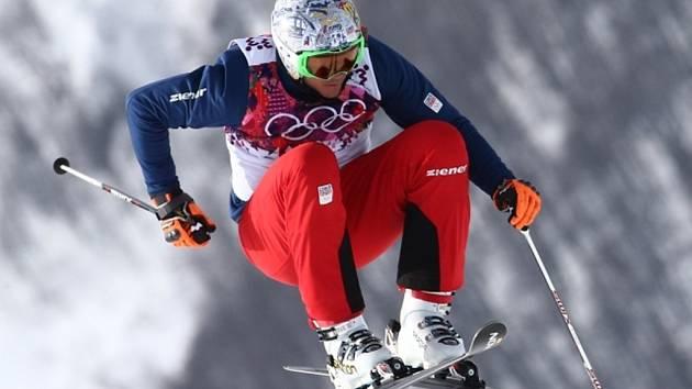 Skikrosař Tomáš Kraus v kvalifikaci na olympijských hrách v Soči.