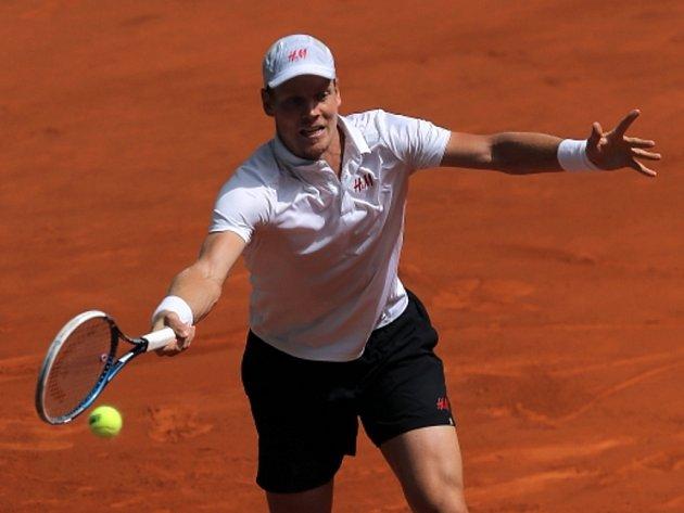 Tomáš Berdych na turnaji Masters v Madridu.