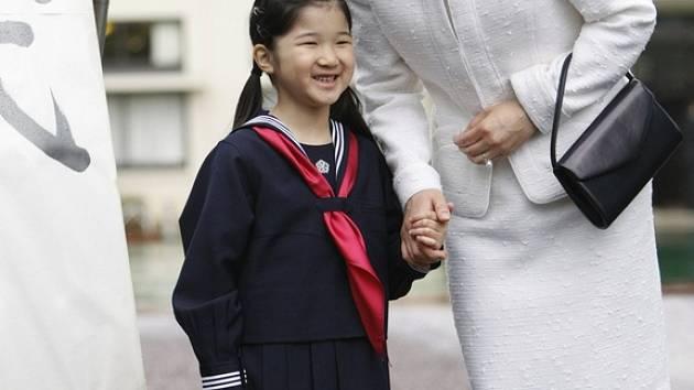 Japonská princezna Aiko jde poprvé do školy