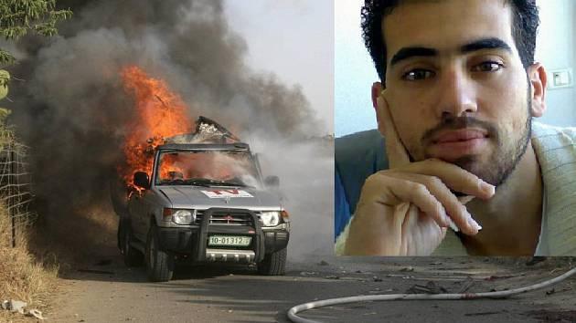 Vůz kameramana Fadela Shany zasáhla střela izraelského tanku.