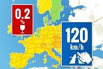 Infografika - co vás čeká na evropských dálnicích během cesty na dovolenou?
