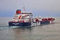 Britský ropný tanker Stena Impero zadržený Íránem v Hormuzském průlivu.